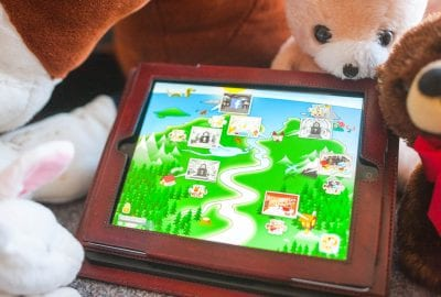 TobiGames screen